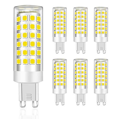 MENTA Lampadine LED G9 9W Equivalente a 75W, 750Lm, LED Mais lampadina G9 9W, Non Dimmerabile, Luce Bianca Fredda 6000K, 220-240 VAC, Risparmio Energetico Lampadine LED, lampade luci, 6 pezzi