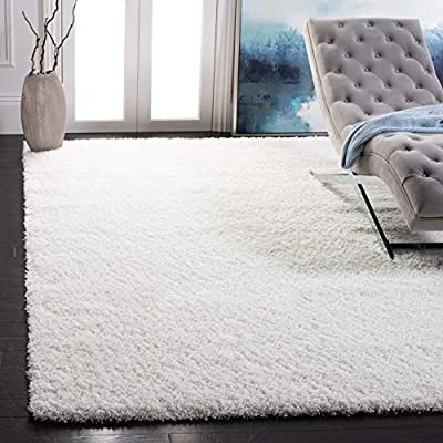 [NON-SHEDDING]: Expertly machine-woven from enhanced soft synthetic durable fibers that have a virtually non-shedding pile for ultimate convenience [PLUSH & COZY]: Features a 2-inch thick pile height for just the right amount of cozy cushioned softne...