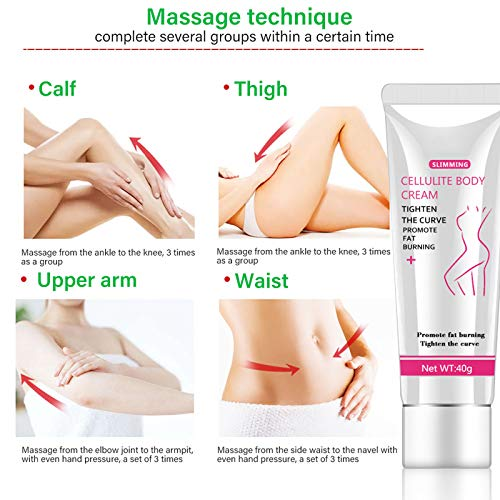 Hot Cream, Cellulite Slimming and Body Fat Burning Cream Weight Loss Serum Treatment Deep Tissue Massage for Shaping Waist, Abdomen and Buttocks 4