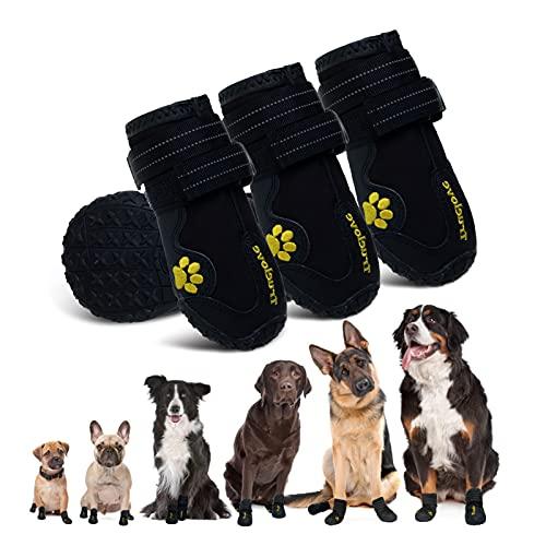 EXPAWLORER Waterproof Dog Boots Reflective Non...