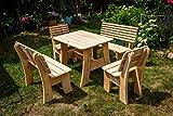 Larisa Stabil Gartentisch; unbehandeltem Erle Holz. 6 Bretter - 5