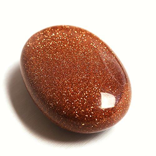 Red Goldstone Palm Natural Stone Crystal Labradorite Healing...