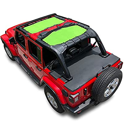 SUNLIGHT BLOCKER AND UV RAYS CUTTER: Approximate 90% sun light blocked to down the temperature immediately, makes you enjoy the jeep time comfortable even in crazy hot days; most of UV cut to protect your skin from harmful UV sun rays. WIND BREAKER A...