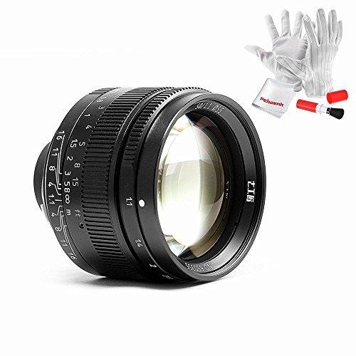 改良版 7artisans 50mm / f1.1 レンズ Leica MマウントカメラとソニーEマウントカメラ用 Pergearクリーニングキット付属 カナダ生産のM4対応しない 1年保証 (ブラック)