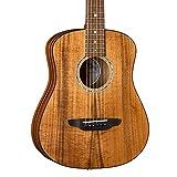 Luna Guitars Safari Koa Supreme 6 String Acoustic/Electric Guitar with Gigbag, Right (SAFKOASUPREME)