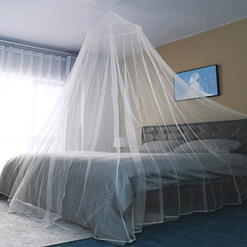 Sekey Moskitonetz Für Einzel- und Doppelbette   Moskitonetz Bett   Mesh Insektennetz   Mückenschutz   Insektengitter   Schnelle und Einfache Installation