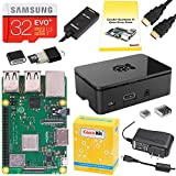 CanaKit Raspberry Pi 3 B + (B Plus) Starter Kit (32 GB Evo + Edition, Premium Nero Custodia)