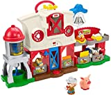 Fisher-Price Little People Caring for Animals Farm Playset with Smart Stages learning content for toddlers and preschool kids (Accessory)