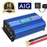 Power Inverter 2000Watt DC 12Volt to AC 120Volt with 3AC Outlets Dual 2.4A USB Ports Remote Control LCD Display for RV Truck Boat