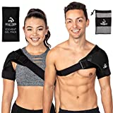 Shoulder Brace with Ice Pack for Men and Women for Support and Pain Relief- Use as Compression Sleeve and Shoulder Immobilizer - Arm Sling Alternative for Torn Rotator Cuff