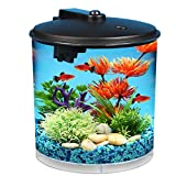 Koller Products AquaView 2-Gallon 360 Aquarium with Power Filter & LED Lighting