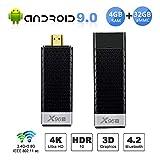 Android 9.0 TV Stick, X96 S Mini Android TV Box - 4GB RAM 32GB ROM Amlogic S905Y2 Quad-core 64bits, Dual WiFi 2.4G+5G/Bluetooth 4.2/USB 3.0/H.265 3D 4K@60fps Smart TV Dongle Streaming Media