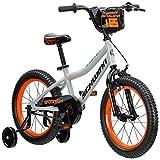 Schwinn Scorch Boy's Bike with Training Wheels, 16' Wheels, Grey