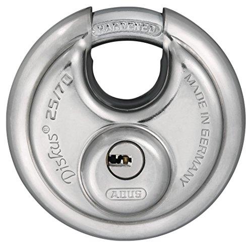 ABUS 25/70_ B Vorhängeschloss Überfalle Diskus Schlüssel Sicherheits-70mm Blister