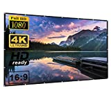 120 inch HD Projection Screen 16:9 Foldable Anti-Crease Portable Projector Movie Screen for Home Theater Outdoor Indoor Support Double Sided Projection