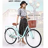 Bikes for Women 26 Inch Road Bikes Classic Bicycle Single Speed Bike Beach Cruiser Bicycle Retro (Blue)