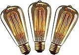 YUNLIGHTS Ampoule Vintage E27 Edison ST64 40W Dimmable Lampe Edison Vintage...