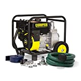 Champion 66520 2-Inch Gas-Powered Semi-Trash Water Transfer Pump with Hose and Wheel Kit