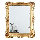 Funerom Vintage 11 x 9.5 inch Decorative Mirror, Wall Mounted & Tabletop Makeup Mirror ,Square...