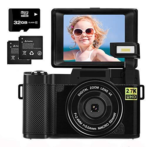 Digital Camera 2.7K 30MP with 3.0 Inch flip Screen Vlogging...