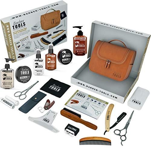 ✮ BARBER TOOLS ✮ Kit/Set/Cofanetto per la cura e manutenzione della barba e radersi | Cosmetici Made in France