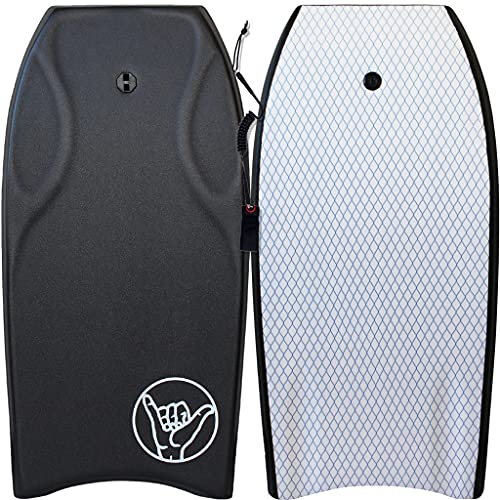 """South Bay Board Co. - Razzo 42"""" Bodyboard in Black - Pro Performance - Durable, Lightweight with EPS Core, Smooth EVA Top Deck & Slick HDPE Bottom"""