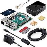 🍓セットの内容物は、ラズベリーパイ3b+、32GB(Class10)のmicroSDカード、カードリーダー、丁寧に作られたロゴ入りブラックケース、放熱対策のためのヒートシンクを2つ、Raspberry Pi 公式から推奨されていたアンペアである5V3.0AのUSB電源アダプターとスイッチ付き電源ケーブル、日本語の取扱説明書など豊富な付属品が含まれています。はじめてのセットアップに便利です。大人にも子供にも適しており、簡単で時間もかからず、すぐにご使用いただけます。このラズベリーパイ3b+セットか...