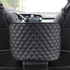 51QRl+mvqtL 1. The car net pocket tote bag holder completely covers the space between the first two seats, making them extra storage space for you. 2. Using thickened polyester fiber with strong toughness, it can also be used as a special barrier to prevent naughty pets in the back seat from interfering with your daily driving. 3. The carrying bag holder can easily remove the items in the wallet without removing your eyes, which helps to reduce the distraction of driving.