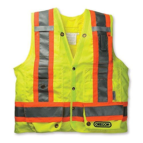 Oregon Reflective High Visability Yellow Surveyor Safety Vest Construction