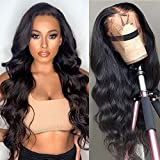Star Show Unprocessed Brazilian Body Wave Human Hair Wigs 13X4 Lace Front Wigs with Baby Hair 150% Density Natural Hairline wigs for Black Women (24 inch)