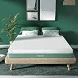 RECCI 2 Inch Mattress Topper Queen, Pressure-Relieving Memory Foam Mattress Topper for Back Pain, Foam Mattress Topper with Removable & Washable Cover, CertiPUR-US Certified, Queen Size