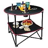 hangou Camping Table Portable Table de Pique-Nique Pliante légère avec Sac de Transport, Parfait pour...