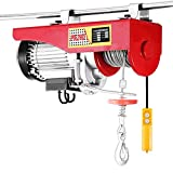 Happybuy 440 LBS Lift Electric Hoist 110V Electric Hoist Remote Control Electric Winch Overhead Crane Lift Electric Wire Hoist