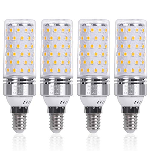 SanGlory 4 Pezzi Lampadina LED E14 12W Equivalenti a 100W 1350 Lumens Alta luminosit e Risparmio...