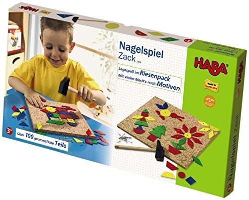HABA Geo Shape Tack Zap Large Imaginative Design 100 Piece Set (Made in Germany)