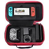 Nintendo Switch 収納 ケースSHareconn 旅行用 バッグ 任天堂スイッチキャリングケース ハードケース、赤