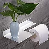 Porte Papier Toilette Auto - Adhésif Porte Rouleau de Papier WC Mural pour Salle de Bain avec...
