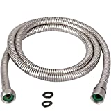 TRIPHIL Kink-free Shower Hoses Extra-long for Handheld Showerhead Hose Replacement Flexible Metal Shower Tube Extension Anti-twist 2 Brass Connectors Stainless Steel Sleeve Brushed Nickel 118 Inches