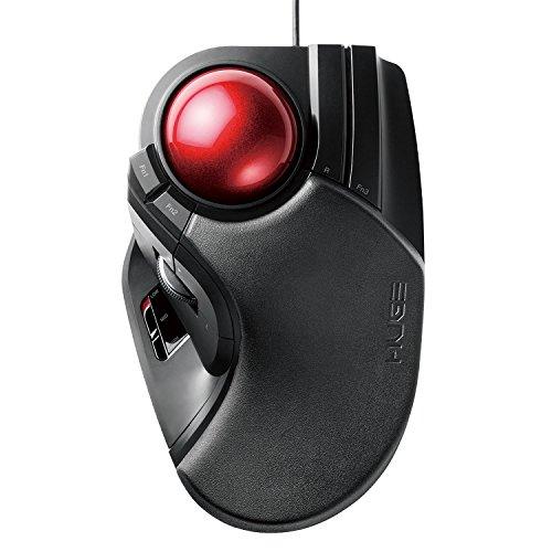 エレコム マウス 有線 トラックボール 大玉 8ボタン チルト機能 ブラック M-HT1URXBK