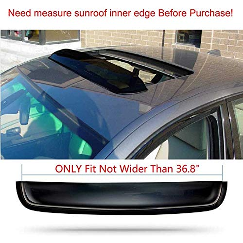 ORK 38in Top Sun/Moon Roof Rain Guard Window Visor Can Only Fit The Sunroof/Moonroof Which Is Not Wider Than36.8'Please Measure The Size Of The Window Wind Deflectors top shield