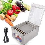 Vacuum Sealer Machine,Commercial Kitchen Food Chamber Tabletop Seal Vacuum Packaging Machine Sealer 110V