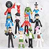 12PCS/Set Brawl Stars Figurines Ornament, Spike Shelly Leon Doll Kawaii Cute Toy Collection Toys Gifts for Game Fans for Children