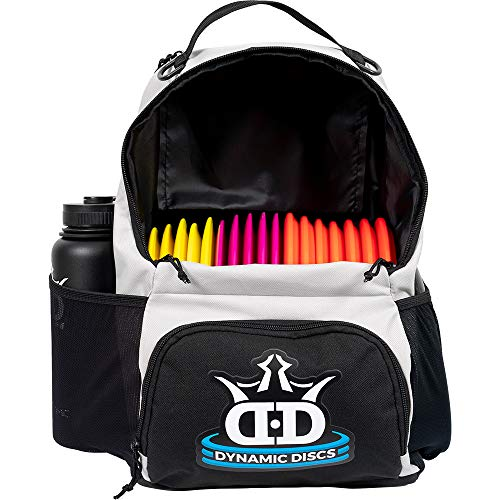 Dynamic Discs Cadet Disc Golf Backpack | Gray/Black | Frisbee Disc Golf Bag with 17+ Disc Capacity | Introductory Disc Golf Backpack | Lightweight and Durable | Discs NOT Included