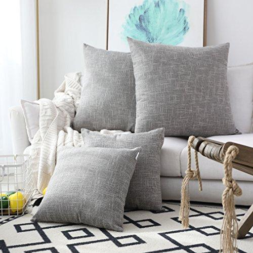 Kevin Textile Decorative Linen Throw Pillow Covers Cushion Case...