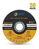 Cutting Wheel 50 PCS Cut Off Wheel 4.5'x.040'x7/8' Cutting Disc Ultra Thin Metal & Stainless Steel SATC