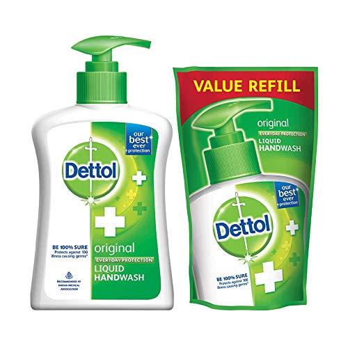 Dettol Liquid Handwash (Original) - 200 ml with Free Dettol Liquid Handwash Refill- 175 ml