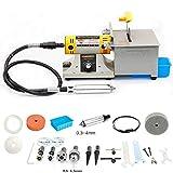 350W TM-2 Mini Multi Purpose Jewelry Rock Polishing Buffer Machine Bench Lathe & Polisher Tool Kits & Jade Cutter Cutting Machine - 110Volt
