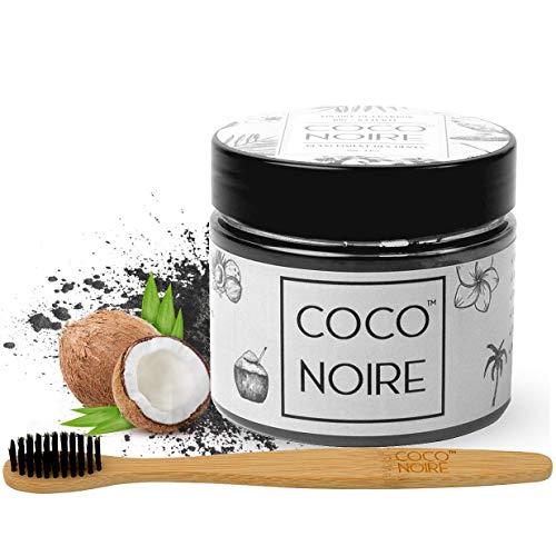 Coco Noire™   Polvere di Carbone Attivo   Spazzolino da Denti di bambù + EBOOK GRATIS  Sbiancante 100% Naturale   Sbiancamento   Charcoal Powder Teeth Whitening [30 Giorni Soddisfatto O Rimborsato]
