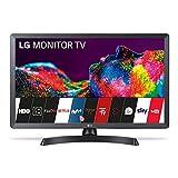 LG 28TN515S-PZ - Monitor Smart TV da 70 cm (28') con schermo LED HD (1366 x 768, 16:9, DVB-T2/C/S2, WiFi, 5 ms, 250 CD/m2, 5 M:1, Miracast, 10 W, 1 x HDMI 1.3, 1 x USB 2.0), colore: nero