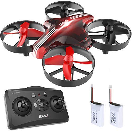 SANROCK GD65A Mini Drohne für Kinder und Anfänger, kinder drohne, RC Drone Quadrocopter mit Höhe-halten, Kopflos-Modus, EIN-Tasten-Rückkehr, Best Spielzeug Drone für Kinder, mit zusätzlicher Batterie